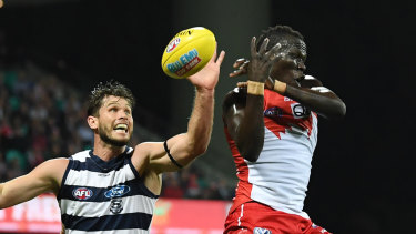 The Cats have won two of their past five games against the Swans in Sydney.
