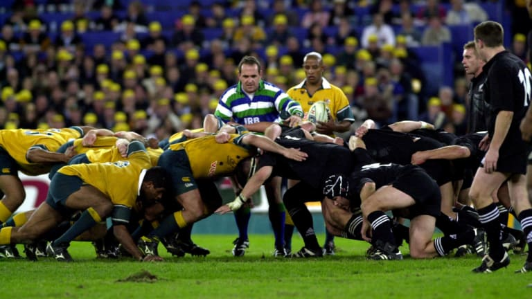 Golden days: The Bledisloe Cup Test in Sydney drew more than 109,000 rugby fans to the Olympic Stadium in 2000.