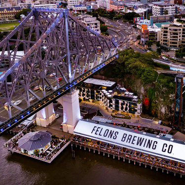 Howard Smith Wharves is a prime example of making the most of the river.
