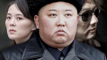 Kim dynasty: Kim Jong-un in centre, sister Kim Yo-jong on the left and brother Kim Jong-chul on the right.