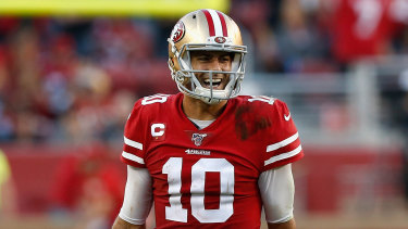 Jimmy Garoppolo passed for 424 yards in the 49ers' win.