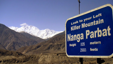 Snow-capped mountain of Nanga Parbat is seen in northern Pakistan.