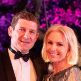 Jonathan Pearce and Nicky Oatley made their first society appearance together at this year's Silver Ball.