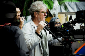 Doyle on the set of his feature film, Hong Kong Trilogy, in 2014.