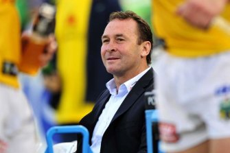 Raiders coach Ricky Stuart played a big role in Thurston's career.