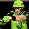Powerful force: Shane Watson hits out for the Thunder.