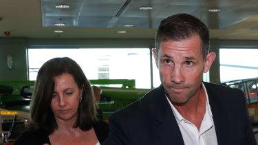 Mark Coyne arrives back at Sydney airport on Thursday.