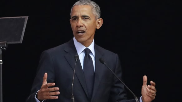 'Politics of fear': Obama gives Trump sharp rebuke in Mandela address