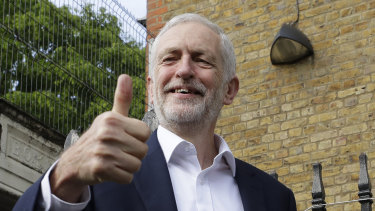 Something to smile about? Jeremy Corbyn, leader of Britain's opposition Labour Party.