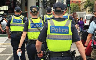 Police in Melbourne.
