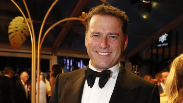 Karl Stefanovic at the 2018 Logie Awards.