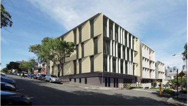 An artist's impression of a new building on the site of the heritage-listed Wilkinson House, which SCEGGS Darlinghurst proposes to demolish.
