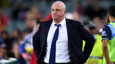 Horror ending: Graham Arnold after Sydney FC's semi-final loss.