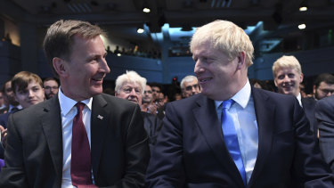 Boris Johnson, right, defeated foreign secretary Jeremy Hunt in a landslide.