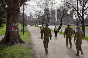 ADF personnel were later used in Victoria during the lockdown to help with police enforcement.