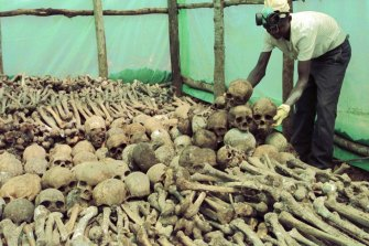 More than 800,00 Rwandans were killed in the inter-tribal genocide of 1994, under Annan's watch.