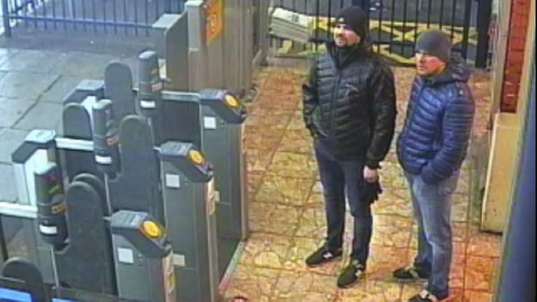 CCTV still shows Ruslan Boshirov and Alexander Petrov at Salisbury train station on March 3, 2018.
