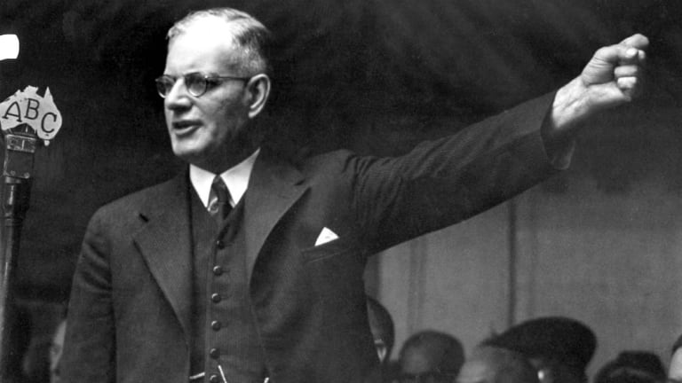 Former prime minister John Curtin. Mr Curtin feared Japanese invasion after they took Singapore in World War 2.