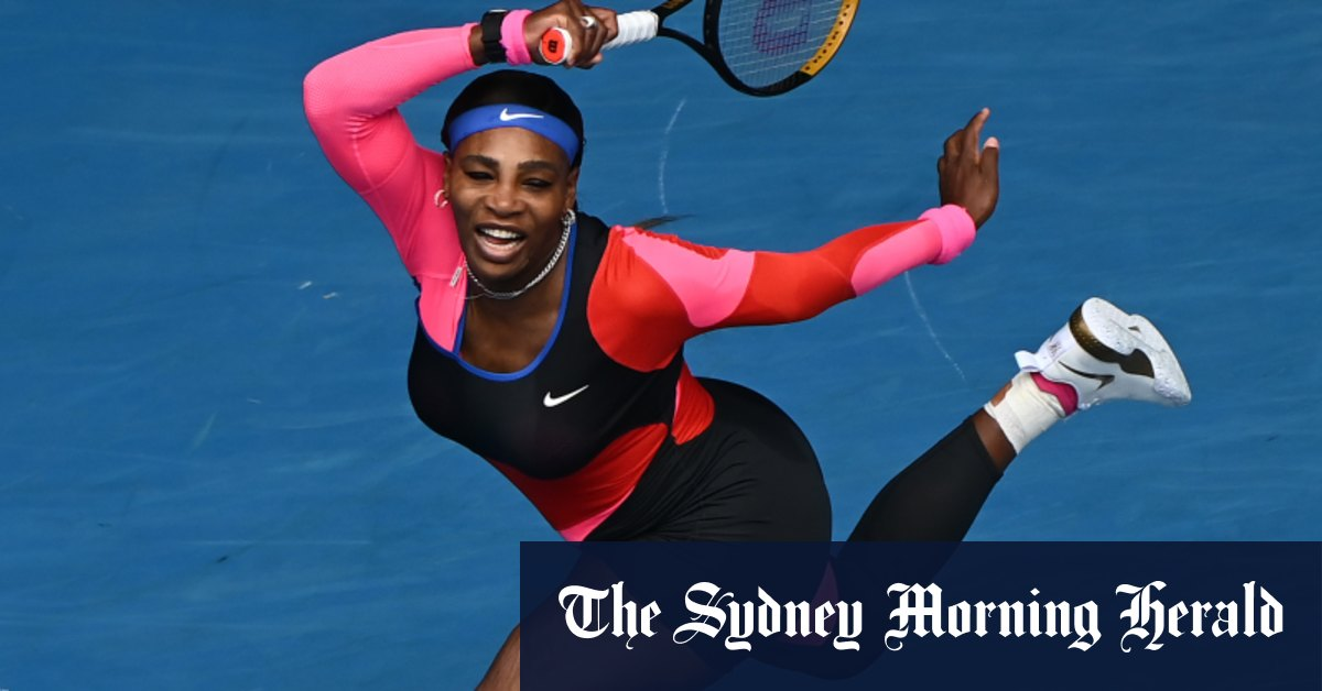 Serena Williams' one-legged catsuit a nod to another sporting great – Sydney Morning Herald
