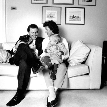 Yabsley in 1989 with Susie and son Edward
