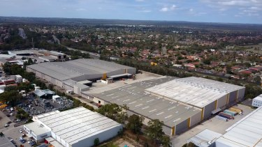 Amazon's warehouse at Goodman Centenary Distribution Centre in Moorebank, Sydney.