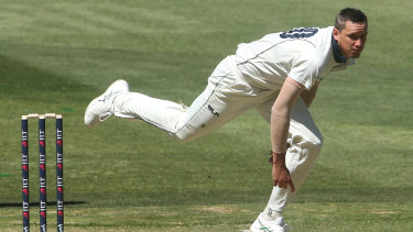 Setting the pace: Chris Tremain in action for Victoria.
