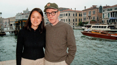 Woody Allen pictured with wife Soon-Yi in Italy in 2001.