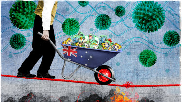 The economy's getting walloped by bushfires and the coronavirus.