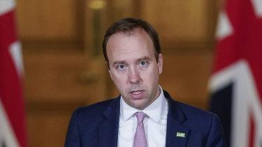 UK Health Secretary Matt Hancock.