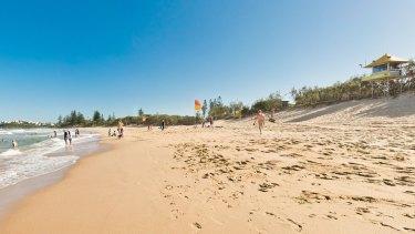 The popular Dicky Beach on the Sunshine Coast.