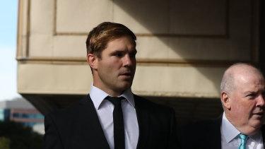 Jack de Belin outside court on Friday.