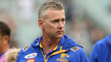 Adam Simpson was not happy with Peter Sumich's comments.