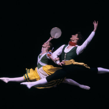David McAllister and Elizabeth Toohey at Moscow's Fifth International Ballet Competition in 1985.