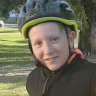 Aaron Spain, aged nine.