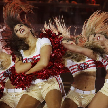 San Francisco 49ers cheerleaders during Super Bowl week in Miami this year.