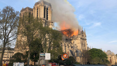 One of France's most treasured buildings, Notre Dame, was on fire on Monday afternoon, local time.