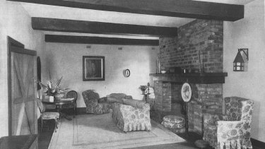 Interior of Esme Johnston's home in Home Beautiful magazine in 1931