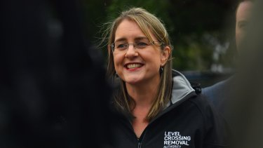 """Transport Infrastructure Minister Jacinta Allan has dismissed a Liberal plan to remove the Kooyong level crossing as a """"desperate"""" stunt."""