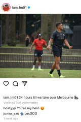Latrell Mitchell used the gorilla emoji in an Instagram post last week.