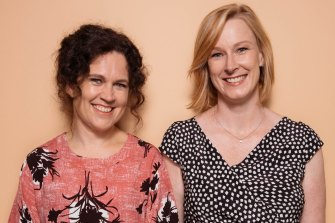 Facebook fans of the podcast, Chat 10, Looks 3, produced by Annabel Crabb, left, and Leigh Sales,  have pleaded for more kindness to each other and its 10 moderators during the COVID-19 crisis.