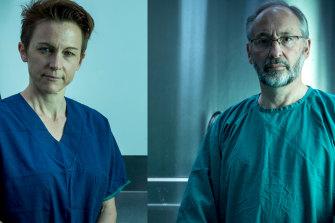 Dr Linda Iles (left) and Professor David Ranson of the Victorian Institute of Forensic Medicine.