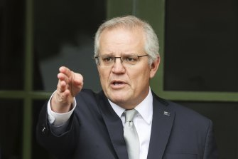 Prime Minister Scott Morrison announcing his government's plan on Friday to transition Australia's response to the coronavirus pandemic.