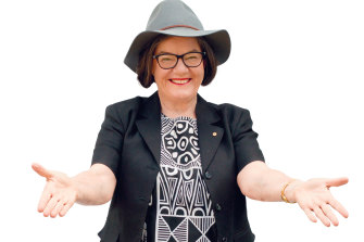 """Cathy McGowan: """"[My partner] David and I work in the sheep yard together … there's an absolute satisfaction that comes from working together outside on a spring day in a beautiful environment."""""""