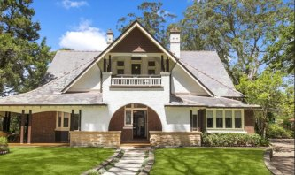 Mount Errington in Hornsby is considered a strong example of the arts and crafts Federation style of home.