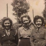 Florence Hedges, Ivy Hedges and Marjorie McCrossin nee Hedges (L-R) during the war.