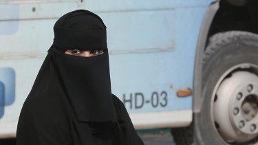 A Saudi woman.
