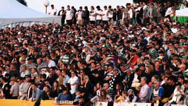 Iconic: In three years at North Sydney Oval, Shute Shield crowds swelled to triple the size of the 2015 final at Concord Oval.