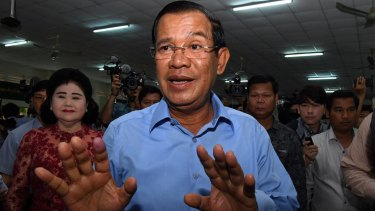 President of the Cambodian People's Party Hun Sen.