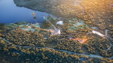 An artist's impression of the Eden Project's proposal for an ecotourism attraction at the former Alcoa coal mine.