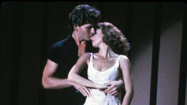 Dirty Dancing, starring Patrick Swayze and Jennifer Grey, is screening at a drive-in at Moore Park.